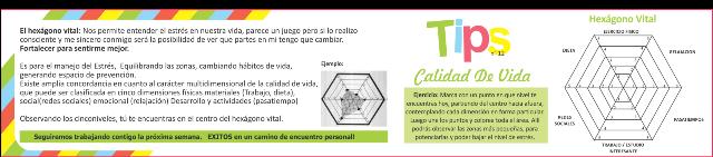 Tip Semanal n° 12. CALIDAD DE VIDA